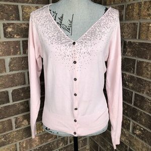 Sweaters - Pale Pink Cardigan Size Small